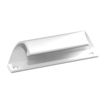 Ручка балконной двери белая метал